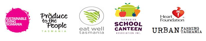 our supporters and partners are: Sustainable living Tasmania; Eat Well Tasmania; Produce to the people; The Tasmanian School Canteen Association; The Heart Foundation and Urban farming Tasmania